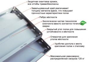 Полка усиленная 100\80 для металлического стеллажа купить на выгодных условиях в Белгороде