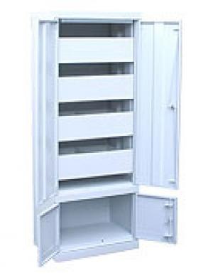Шкаф металлический картотечный ШК-4-Д4 купить на выгодных условиях в Белгороде
