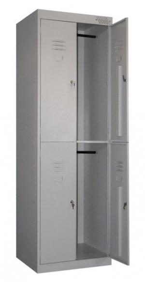 Шкаф металлический для одежды ШРK-24-800 купить на выгодных условиях в Белгороде